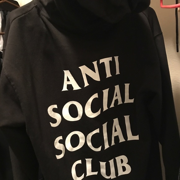 Real Anti Social Club Hoodie Black Medium